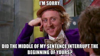 interrumpir al hablar interrupción