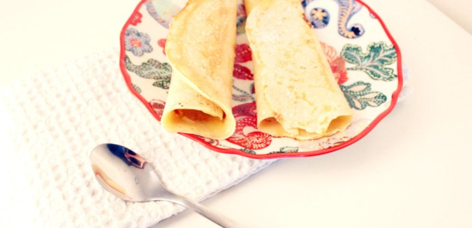 Crepes con lemon curd