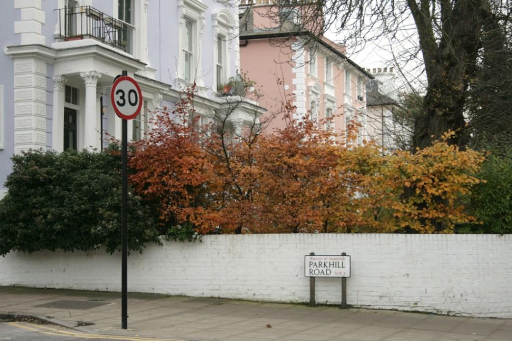 Londres en otoño Árboles de colores