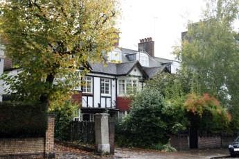 Londres en otoño Árboles amarillos