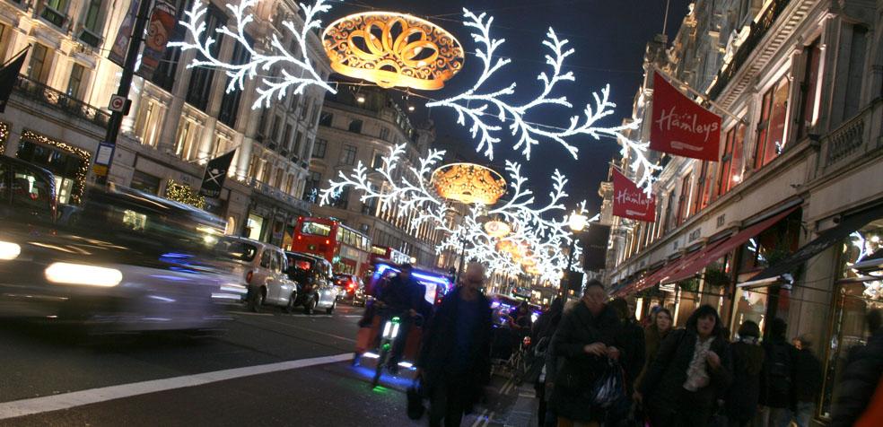 La navidad en Londres iluminaciones