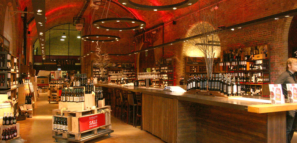 La navidad en Londres Tienda de vinos
