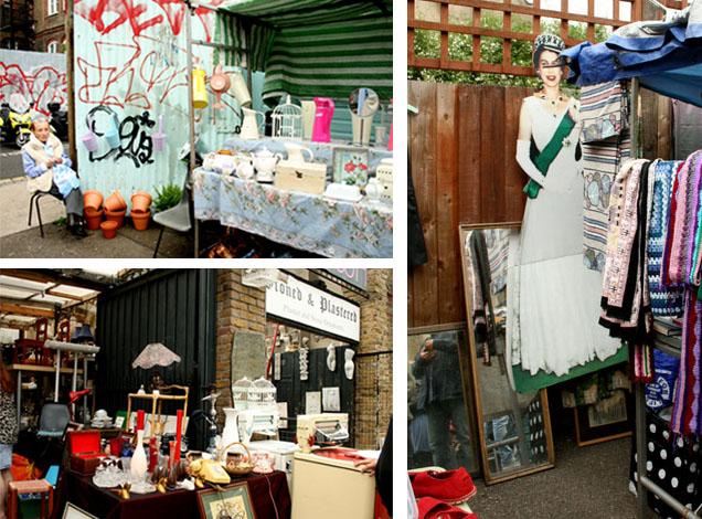 El mercado de las flores de Londres mercadillo vintage