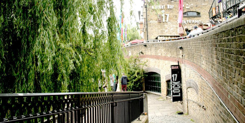 Canal de Camden Town Camden Lock