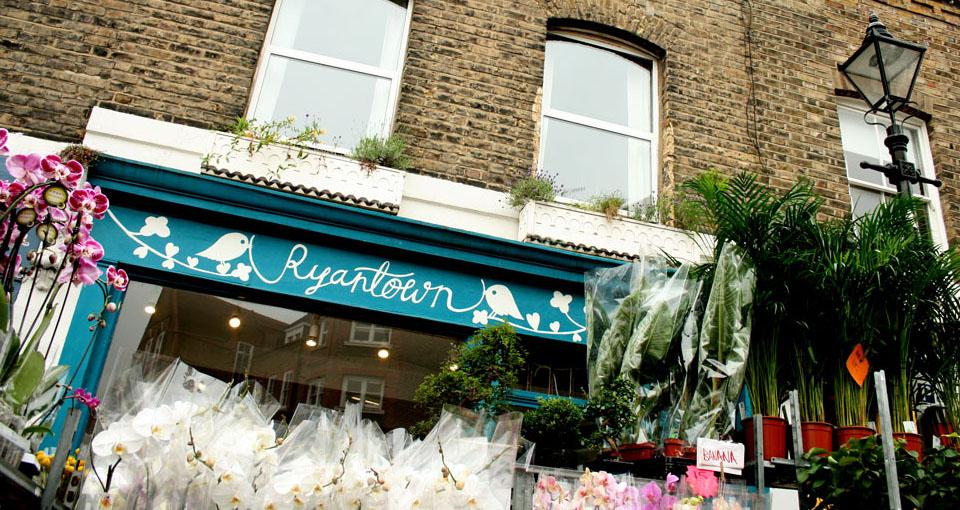 El mercado de las flores de Londres tiendas