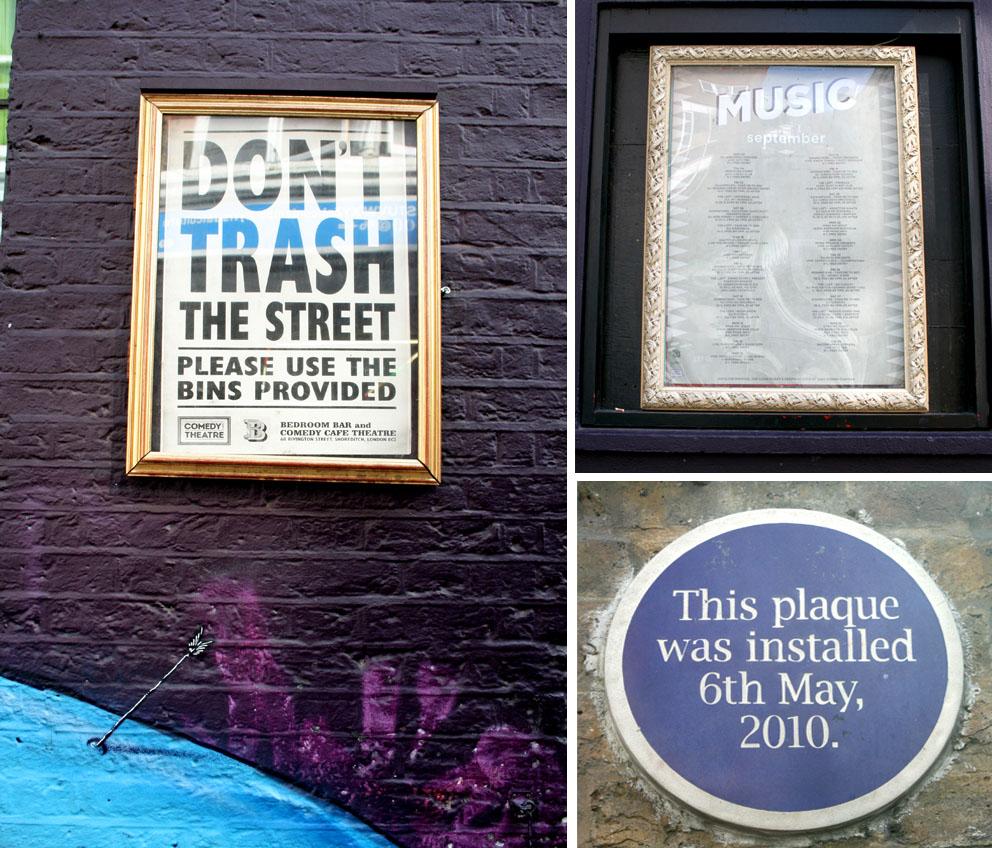 Lo más interesante de Shoreditch Carteles Rivington Street