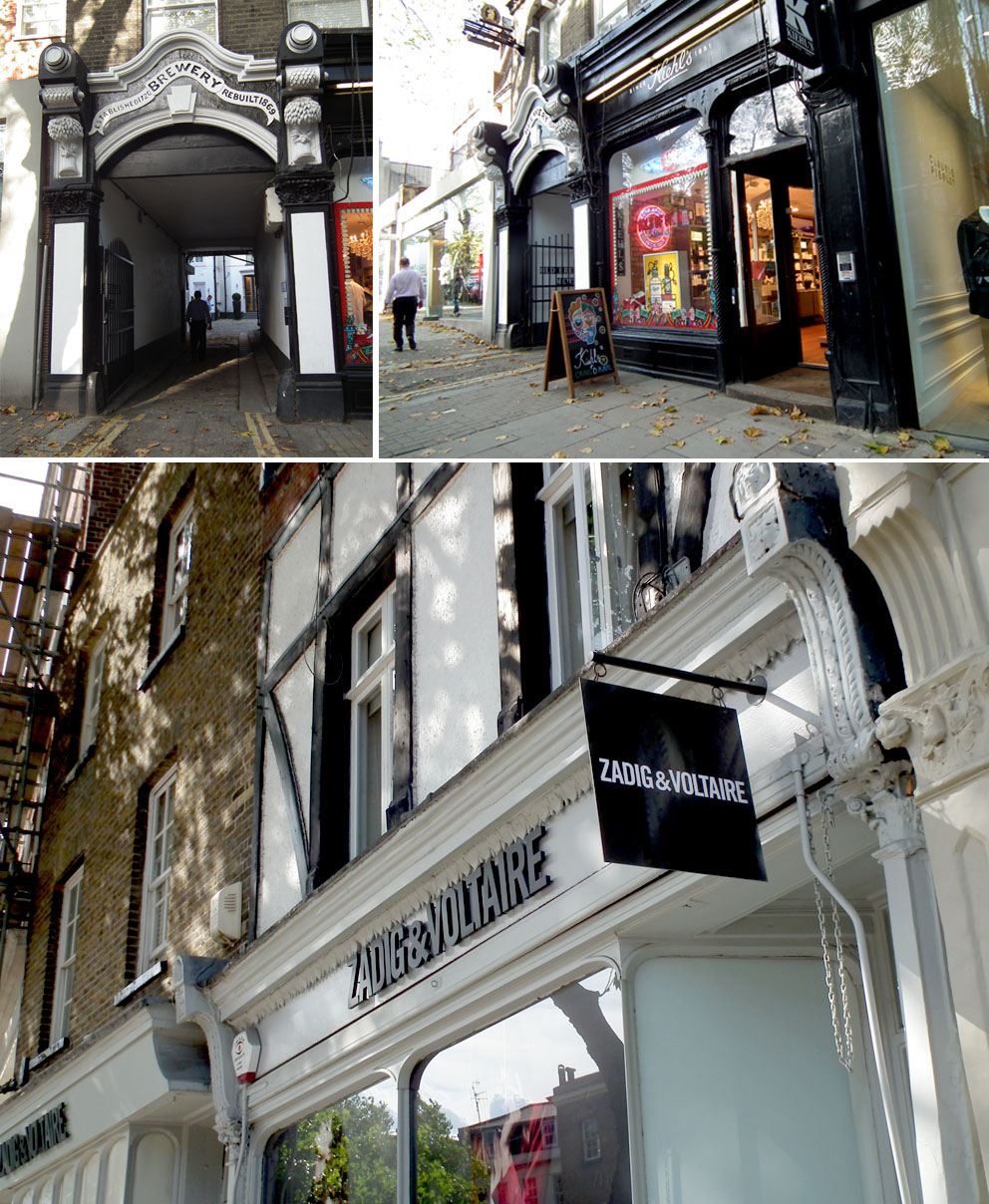 Barrios bonitos de Londres tiendas