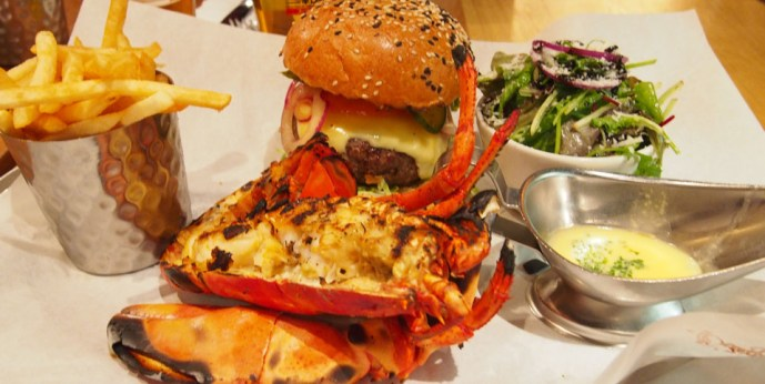 Burger & Lobster en Londres langosta
