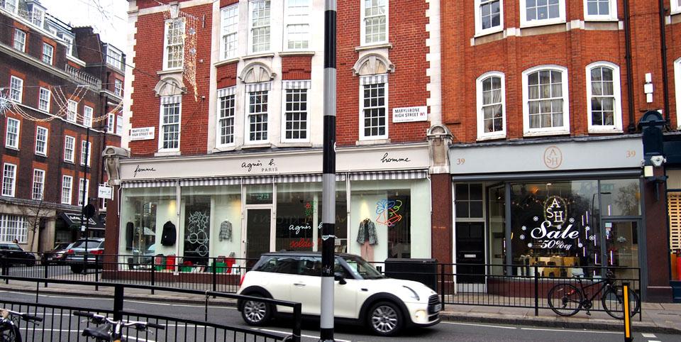 Tiendas en Marylebone Londres Mini cooper