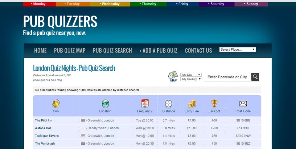 Que es un pub quiz web