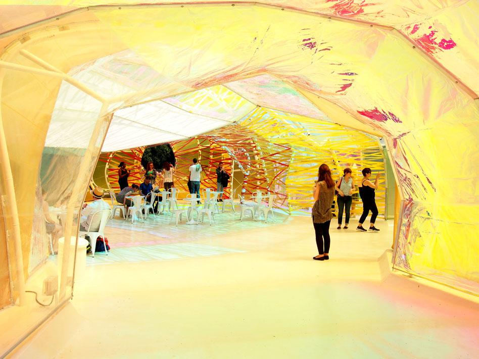 Serpentine Pavilion de 2015 interior