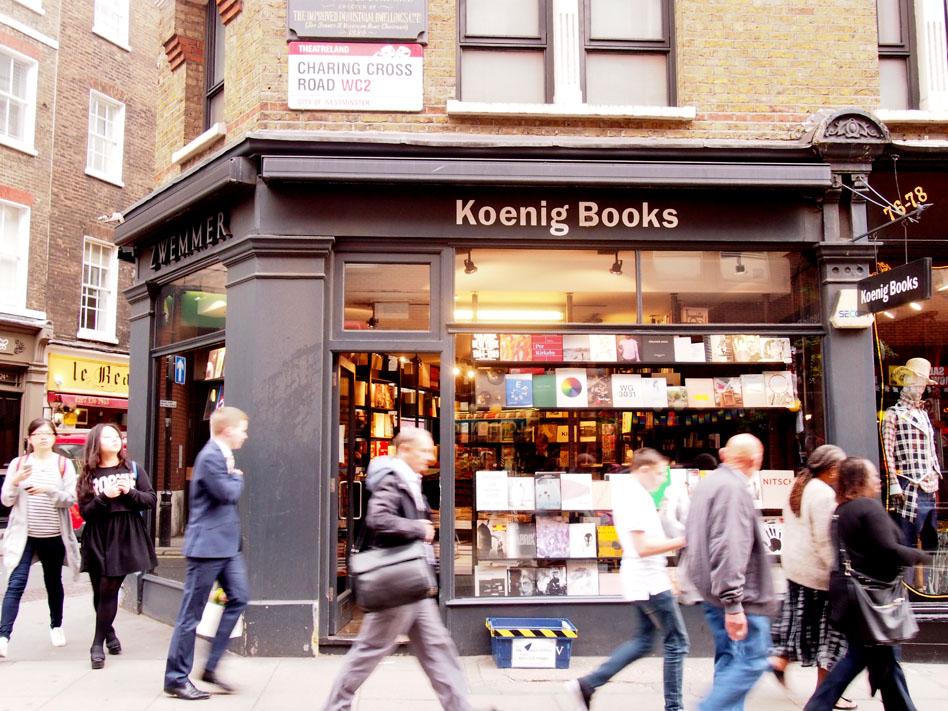 Las mejores librerías de Londres Koenig Books