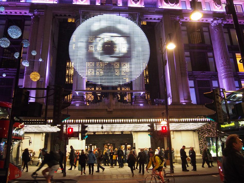 Ruta iluminación Navidad Londres Selfridges