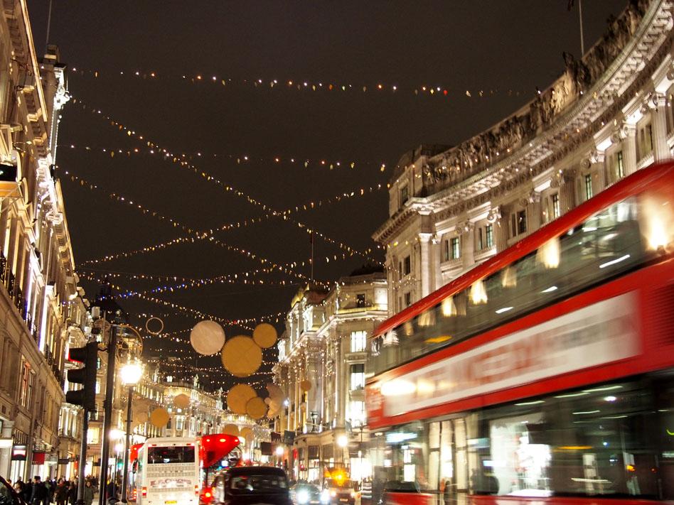 Ruta iluminación Navidad Londres Regent Street