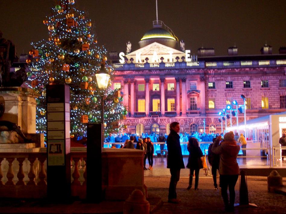 Ruta iluminación Navidad Londres somerset house