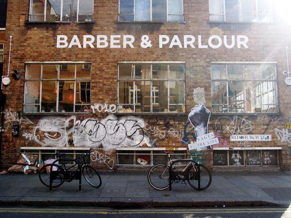 Barber & Parlour en Shoreditch fachada