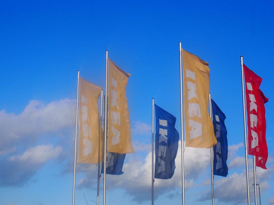 Cómo ir a Ikea de Londres en transporte público banderas ikea