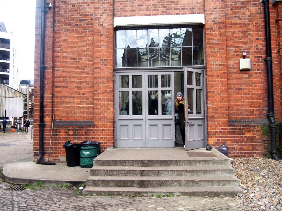 Annie Leibovitz en Londres puerta