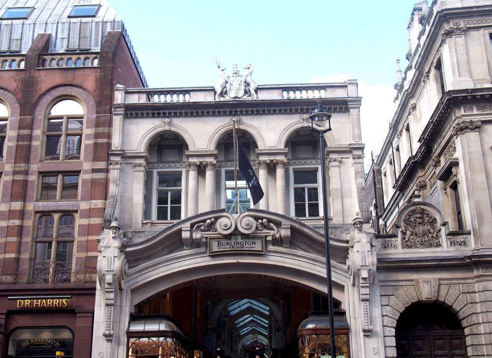 Piccadilly lugares que ver burlington arcade