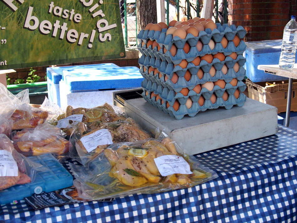 Farmers market comida biológica en Londres Huevos