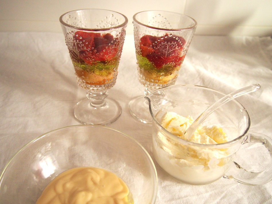 Trifle postre inglés nata