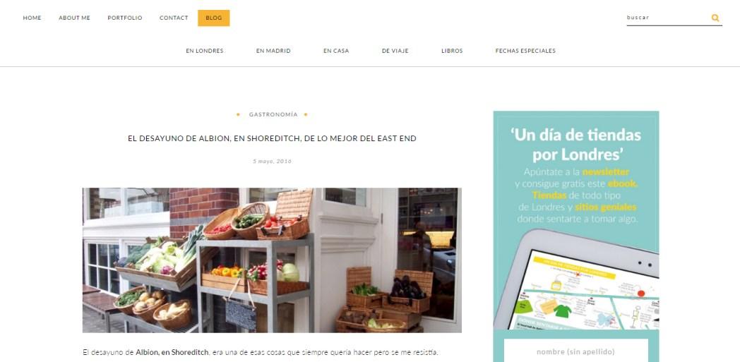 Nuevo diseño del blog Menús