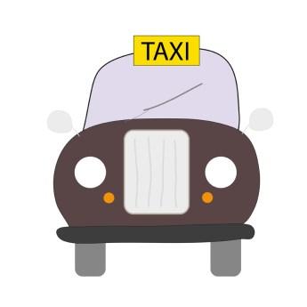 Ilustración de un taxi en Londres
