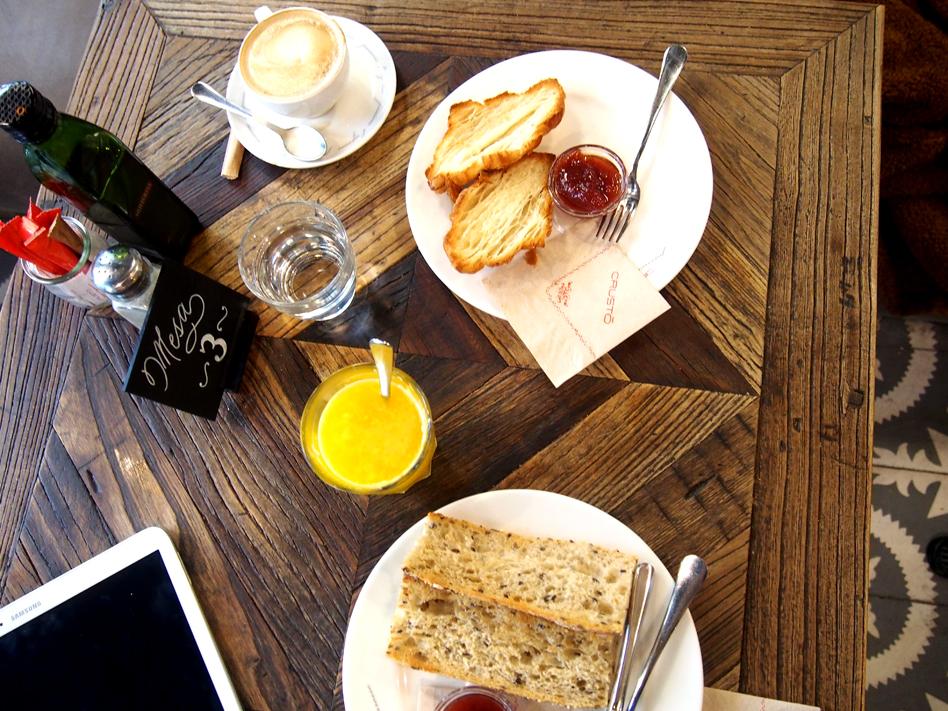 Crustó en Madrid desayuno