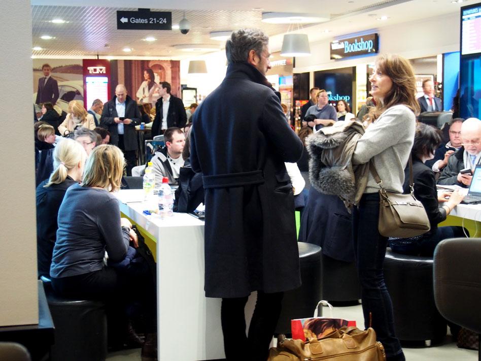 Aeropuerto de la City de Londres gente