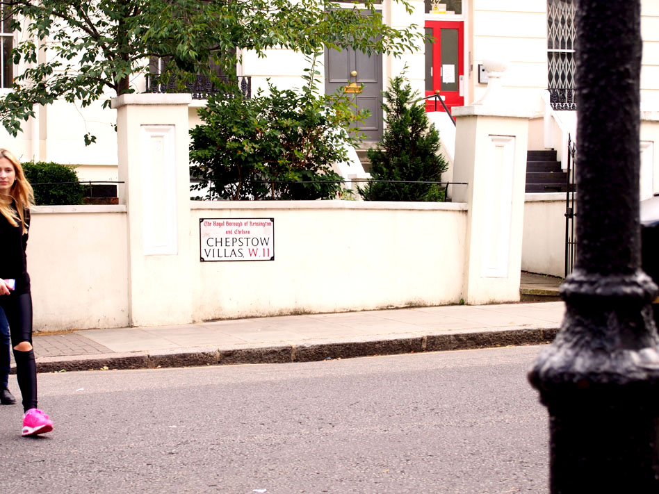 Paseo por Notting Hill calle