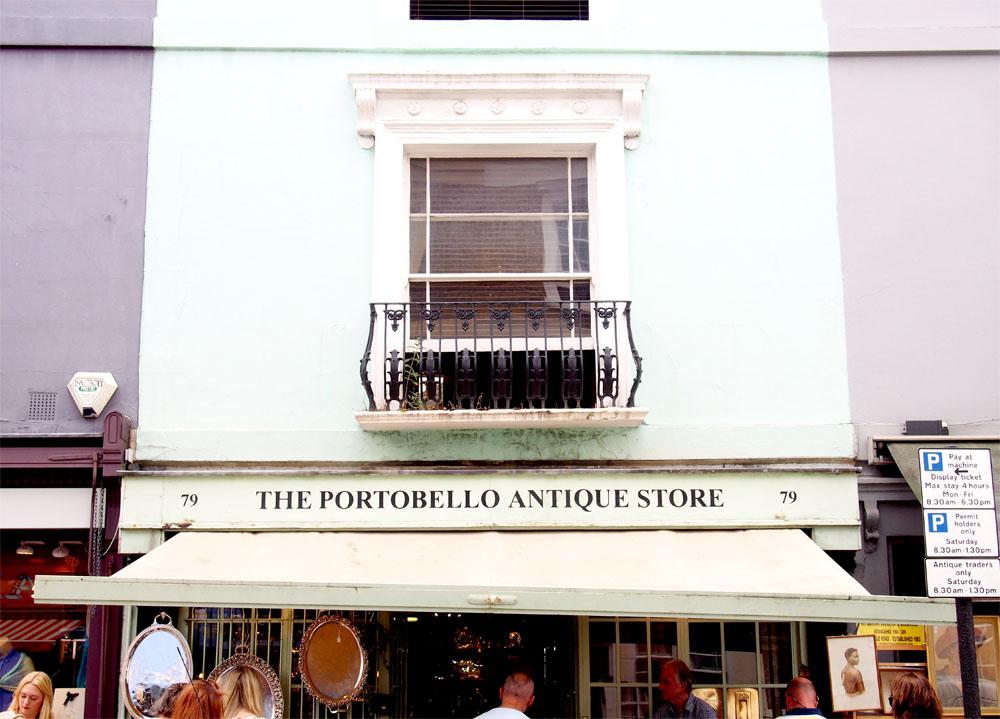 Paseo por Notting Hill fachada