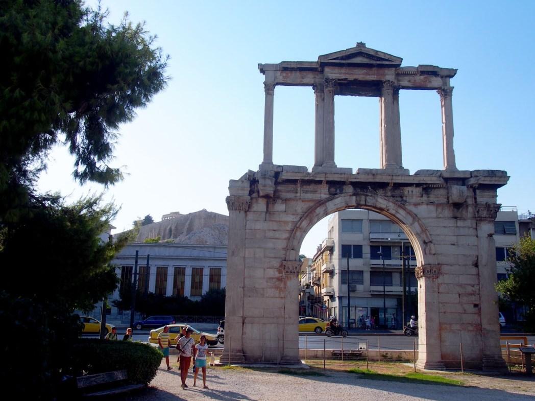 Paseo por el centro de Atenas Arco de Adriano