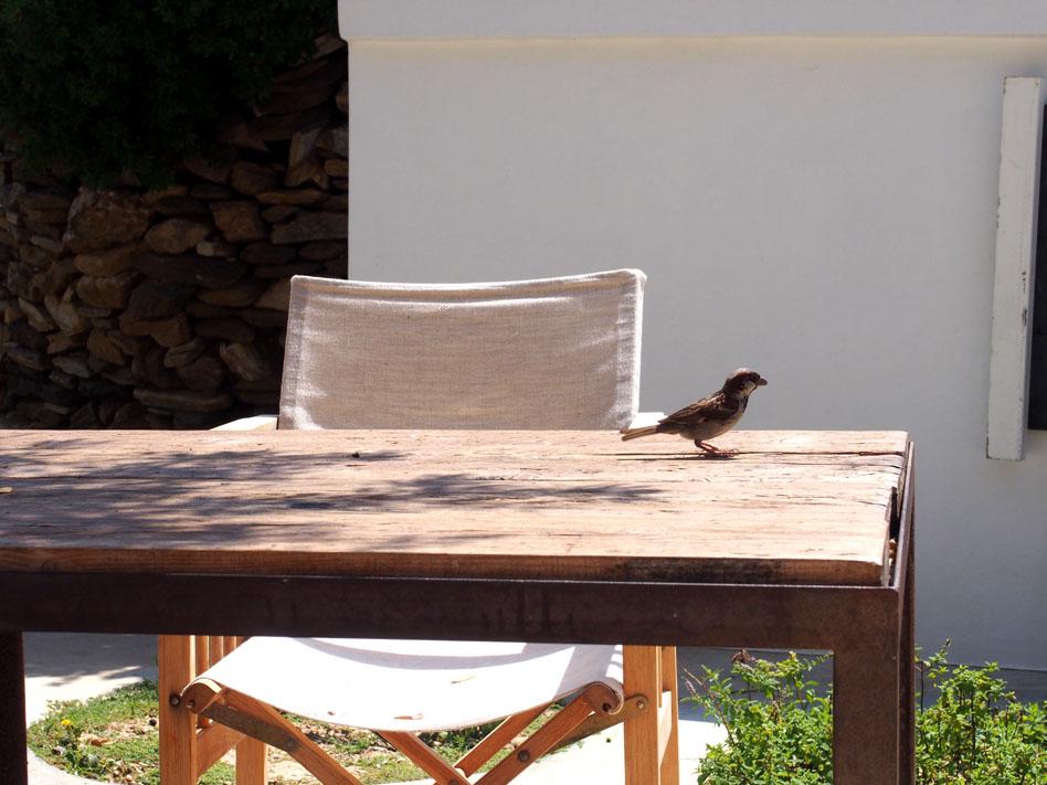 Hotel Kamarotí en Sifnos mesa