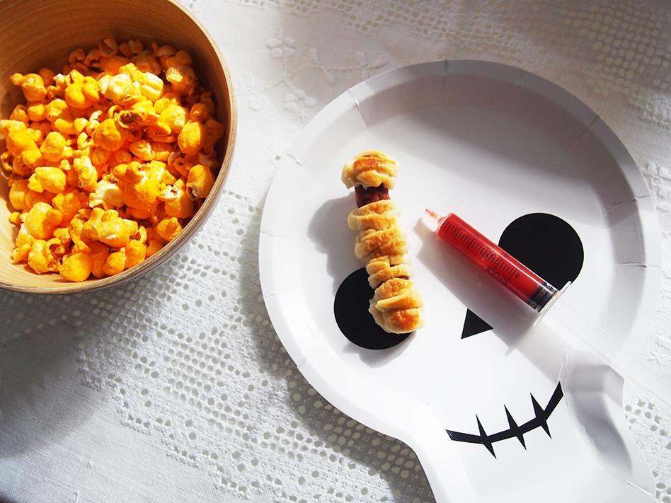 ideas geniales de comida para Halloween momias