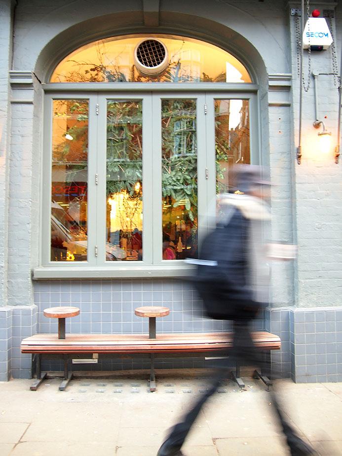 Hampstead en Navidad Horseshoe-ventanal