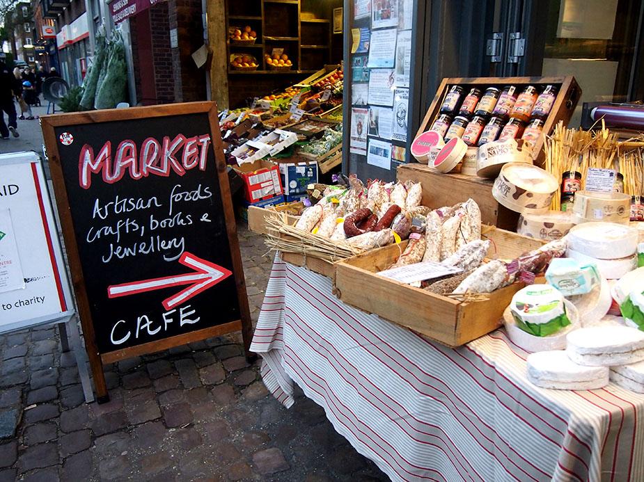 Hampstead en Navidad food market