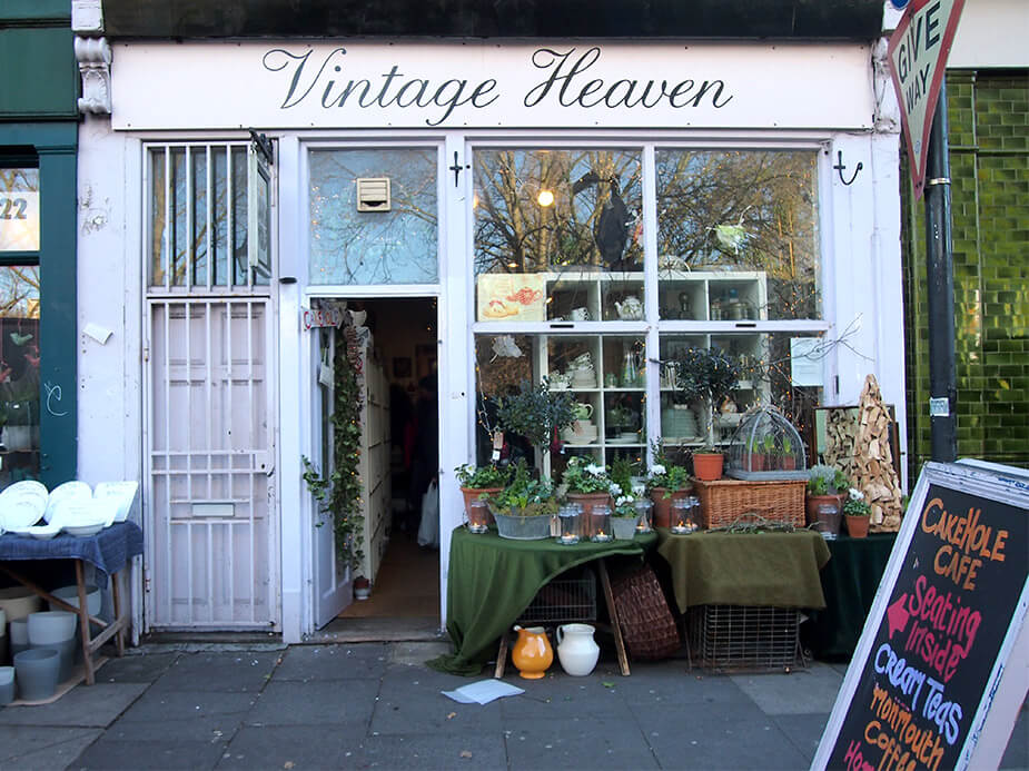 Tiendas cool en Columbia Road Vintage Heaven