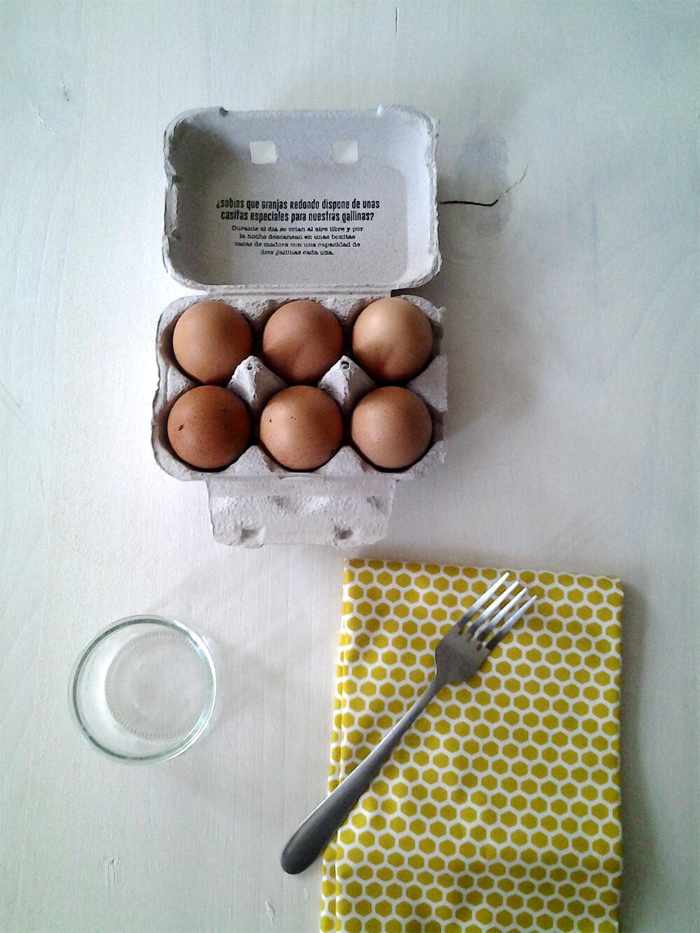 Huevos y paño