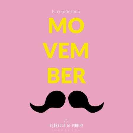 Movember dibujo bigotes