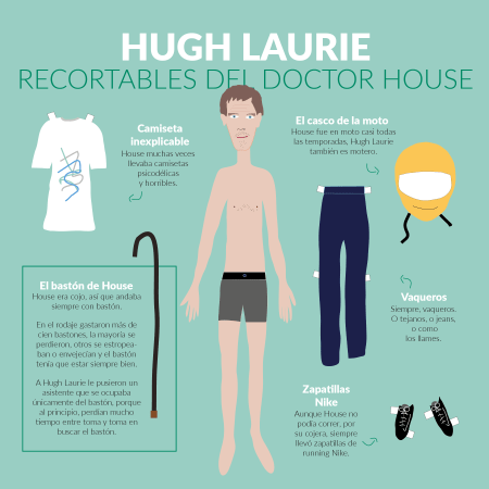 Hugh Laurie, como doctor House