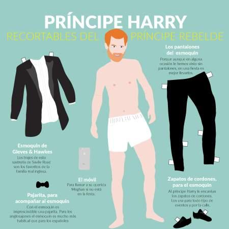 El príncipe Harry en el esmoquin de su boda