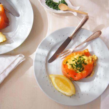 Receta de huevos revueltos con salmón de Fortnum & Mason foto