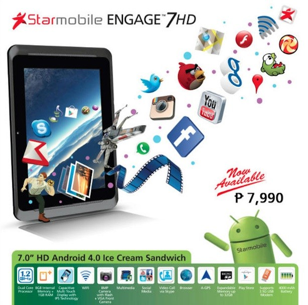Starmobile Engage 7HD Specs