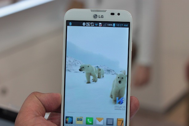 The LG Optimus G Pro was previewed at the Mobile World Congress in Barcelona, Spain