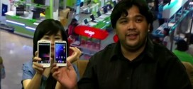 Alora and Carlo holding up the Starmobile Diamond and the Cherry Mobile Omega HD