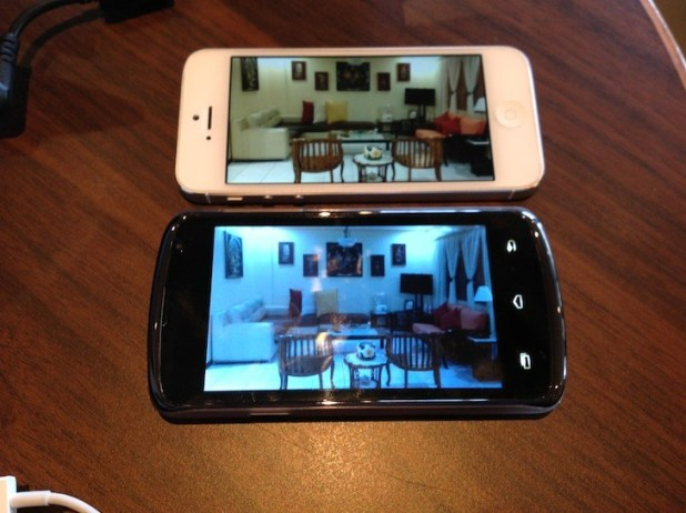 Side by side with the iPhone