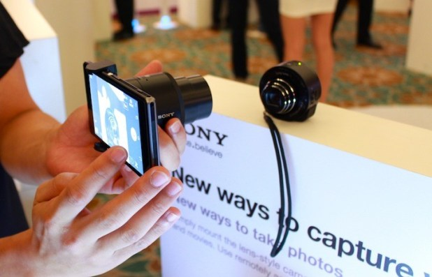 The Sony QX Smart Lens! Watch out for our initial review and hands-on later tonight!