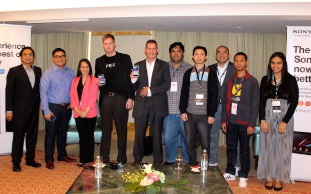 Sony regional executives with PH contingent of bloggers and media