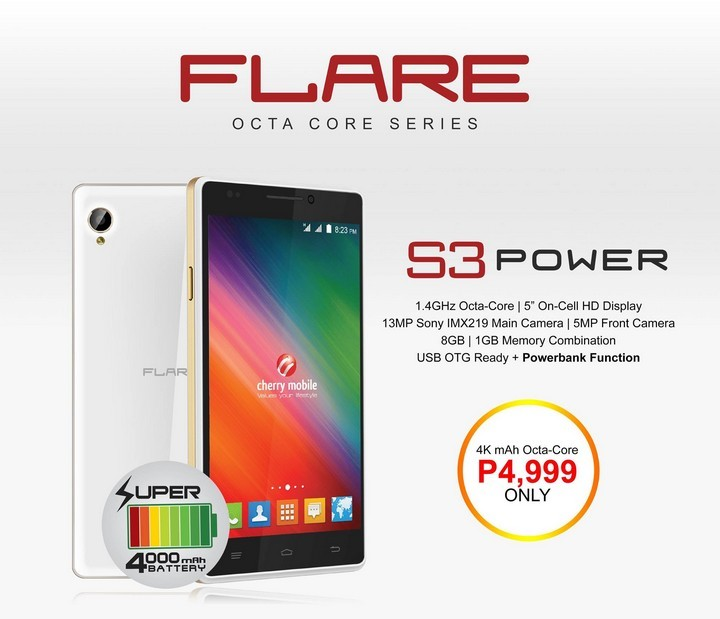 S3 power octa core smartphone click for details cherry mobile flare s3