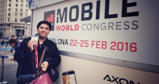 Unbox EIC and Founder Carlo Ople at the MWC 2016 Badge Collection Booth